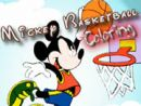 Mickey Basketball Coloring